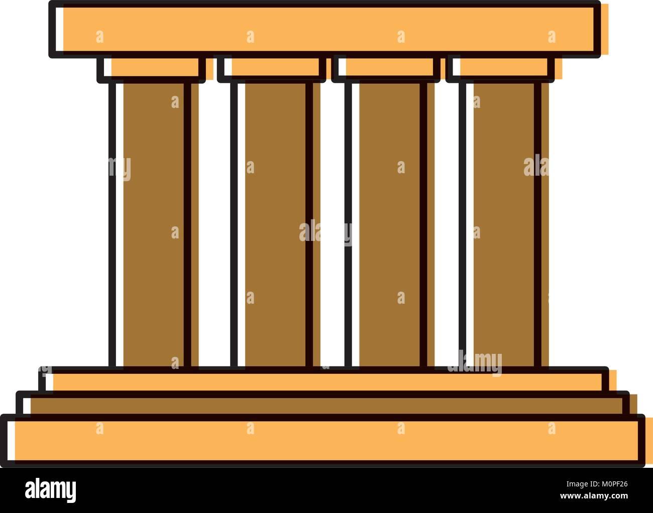 Greek building columns - Stock Vector