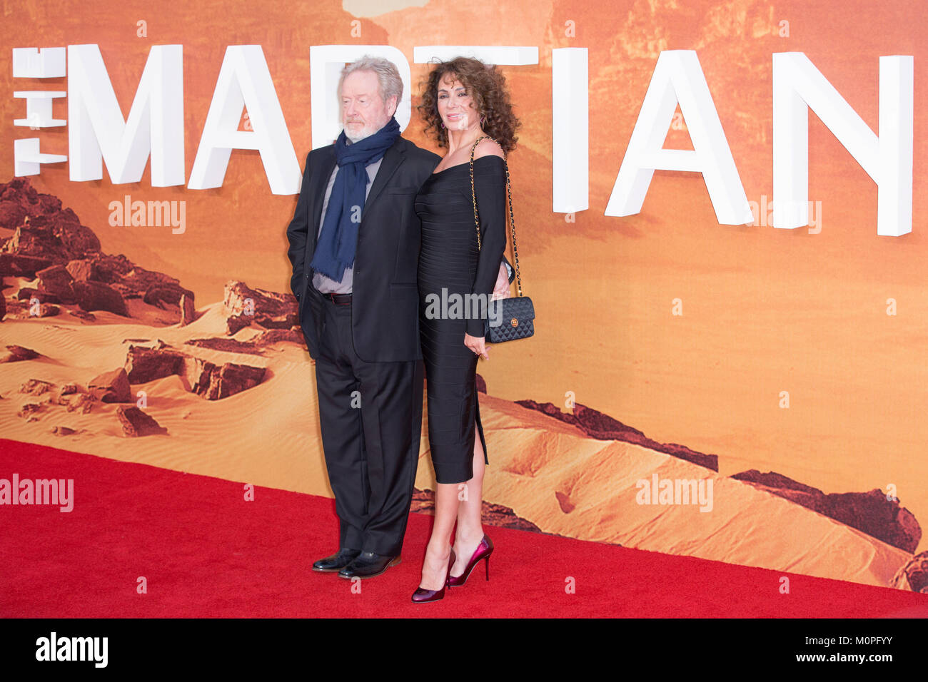 London, UK,  24 September 2015, Ridley Scott, European Premiere of 'The Martian' at the Odeon Leicester - Stock Image