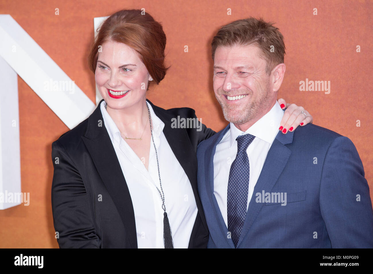 London, UK,  24 September 2015, Sean Bean, European Premiere of 'The Martian' at the Odeon Leicester Square. - Stock Image