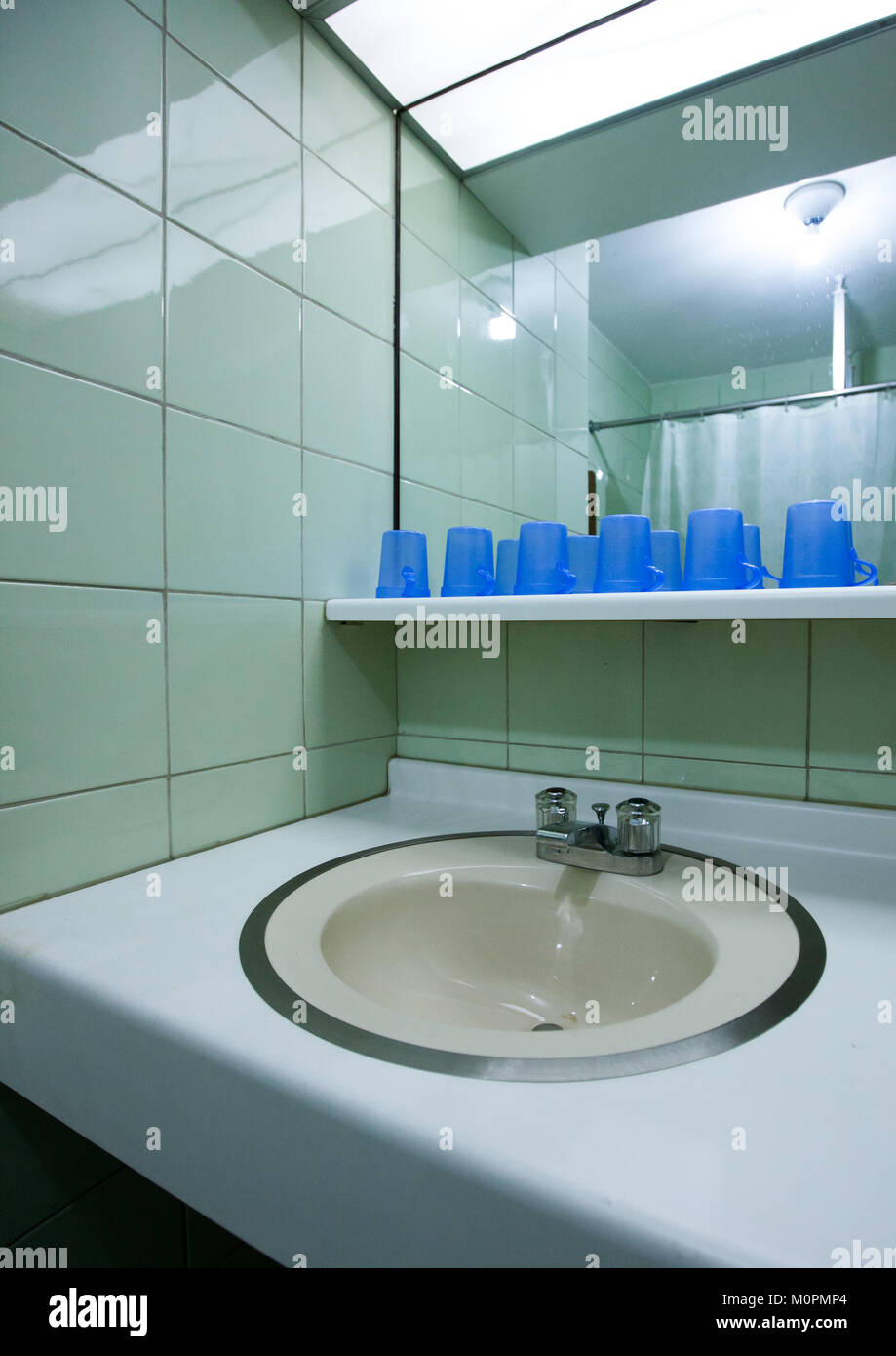Bathroom for the pioneers in Songdowon international children's camp, Kangwon Province, Wonsan, North Korea Stock Photo