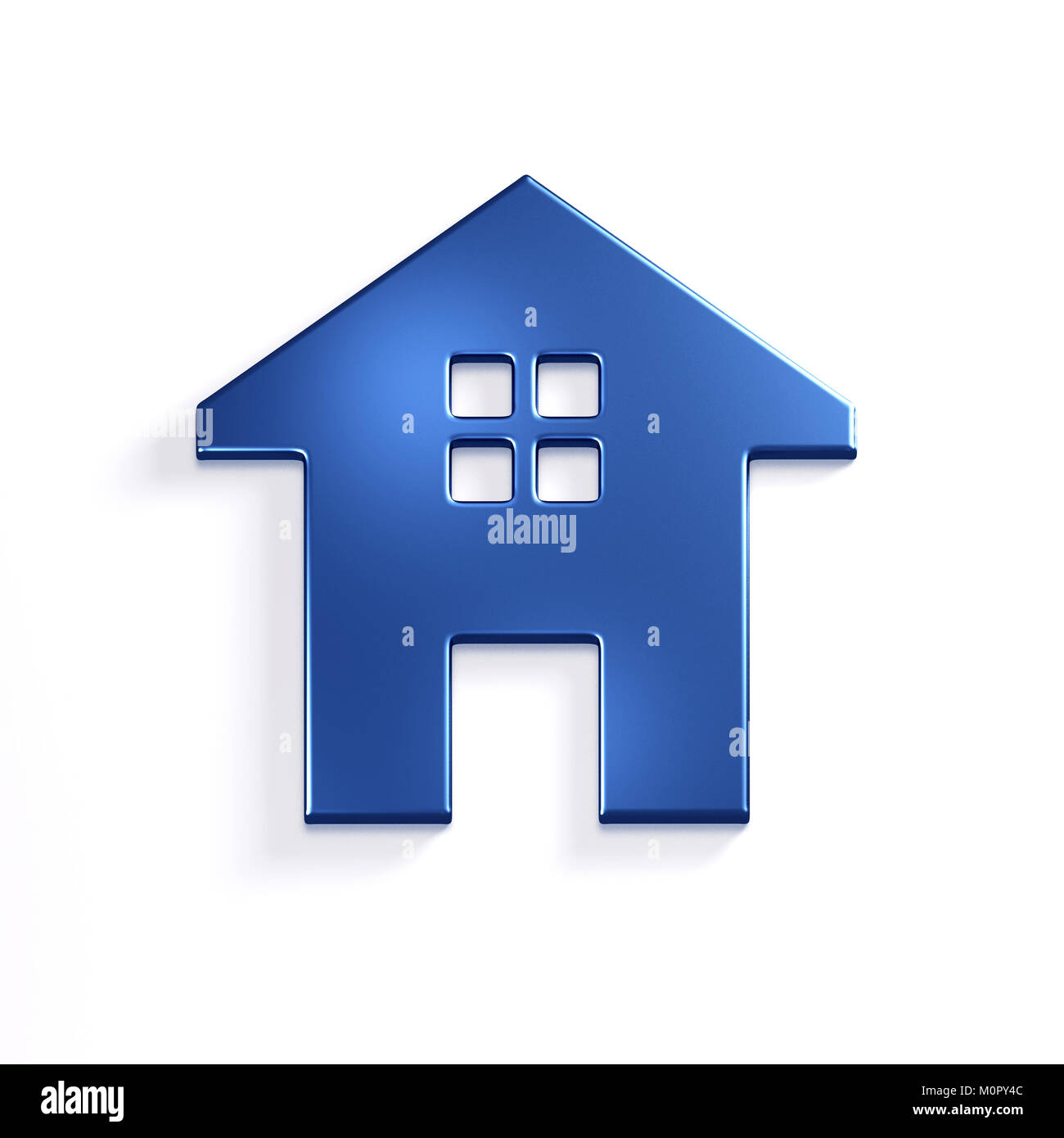 House Icon. 3D Render Illustration - Stock Image