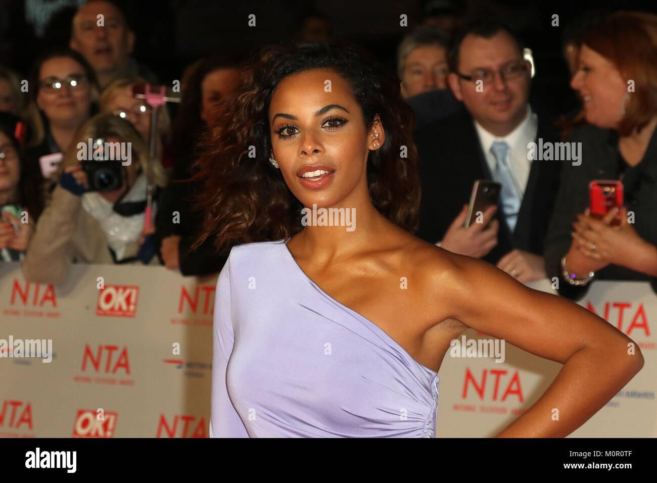 London, UK. 23rd January, 2018. Rochelle Humes, National Television Awards, The O2 London, UK. 23rd Jan, 2018. Photo - Stock Image