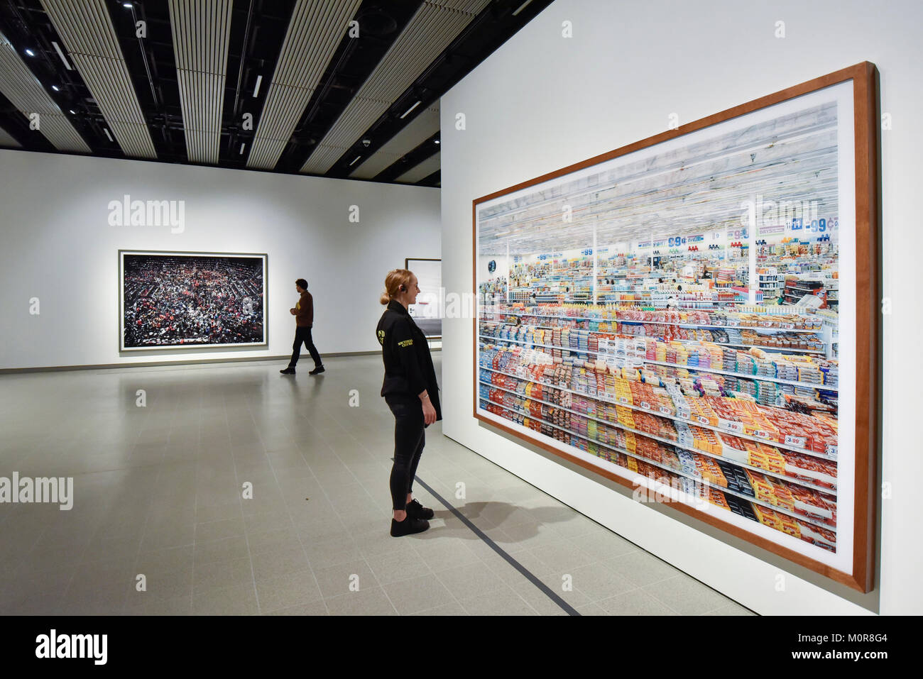 A Staff Member Views R 99 Cent 1999 Remastered 2009 By Andreas Gursky Preview Of The First Major UK Retrospective Acclaimed