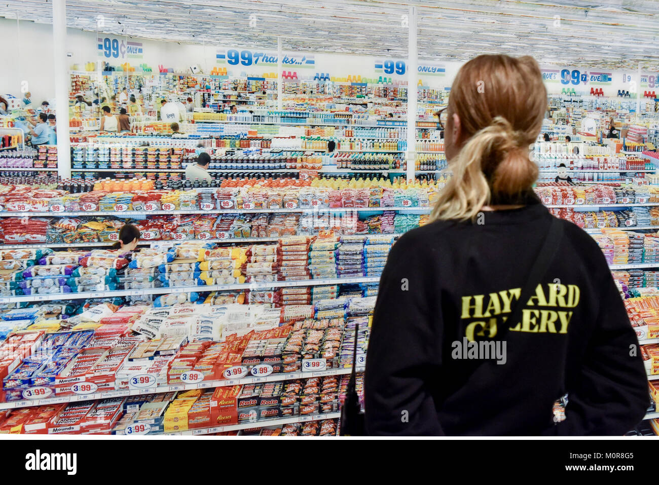 A Staff Member Views 99 Cent 1999 Remastered 2009 By Andreas Gursky Preview Of The First Major UK Retrospective Acclaimed