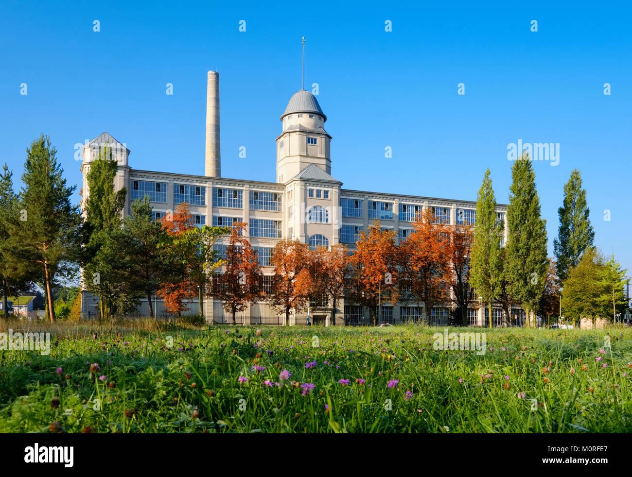 Industriedenkmal,Glaspalast, Textilviertel, Augsburg, Schwaben, Bayern, Deutschland - Stock Image
