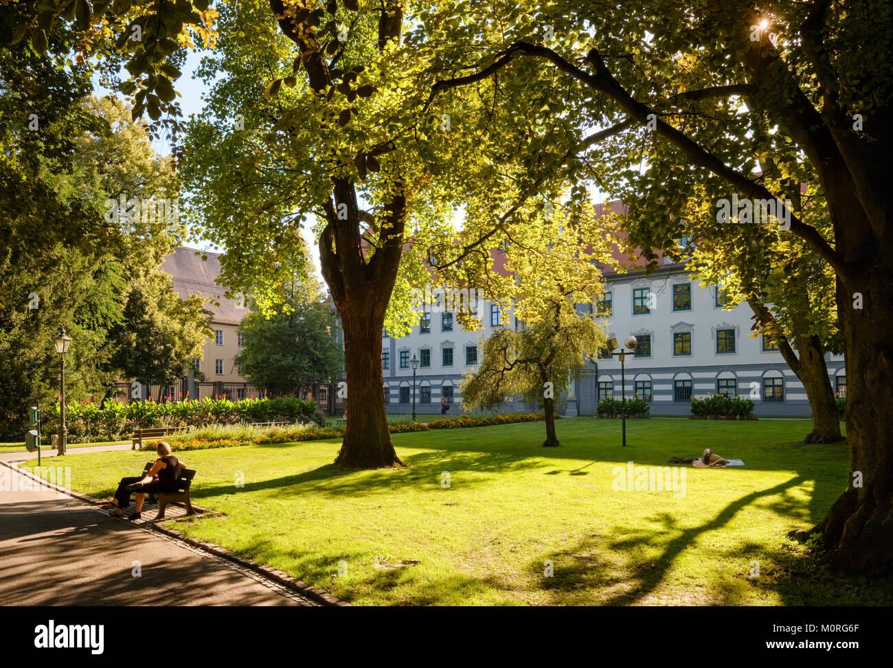 Fronhof, Altstadt Augsburg, Schwaben, Bayern, Deutschland - Stock Image