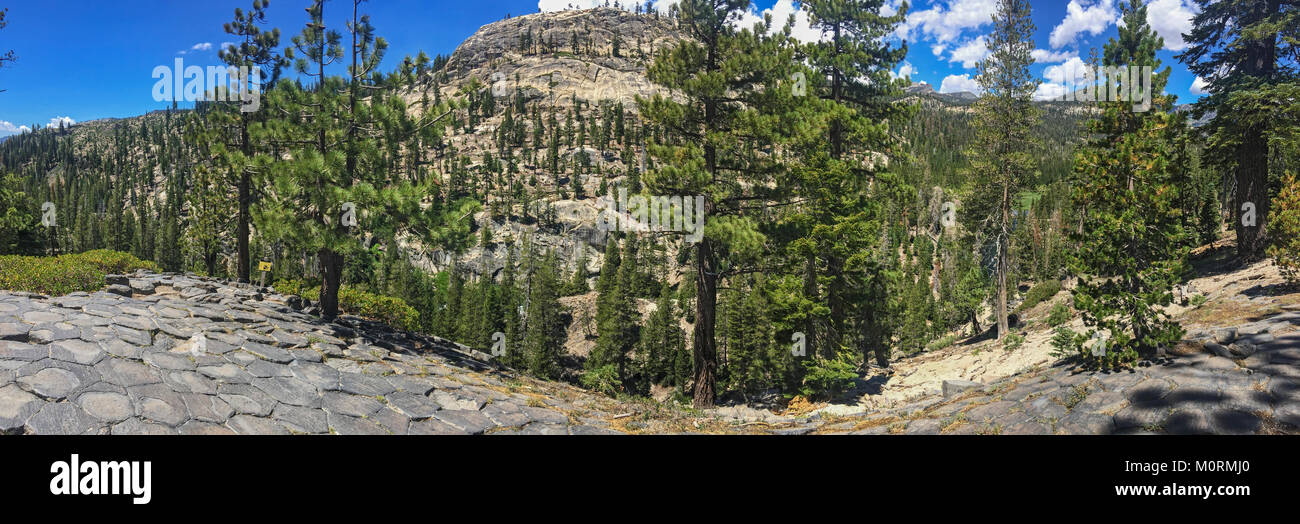 Devils Postpile National Monument, Inyo National Forest, Inyo County, California, USA - Stock Image