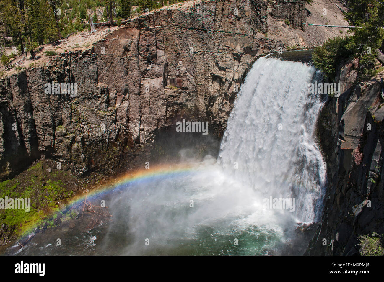 Rainbow Falls, Devils Postpile National Monument, Inyo National Forest, California, USA - Stock Image