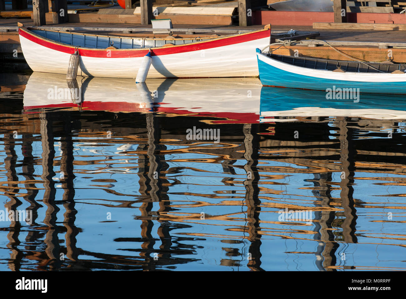 United States, Washington, Seattle, Lake Union, Center for Wooden Boats - Stock Image