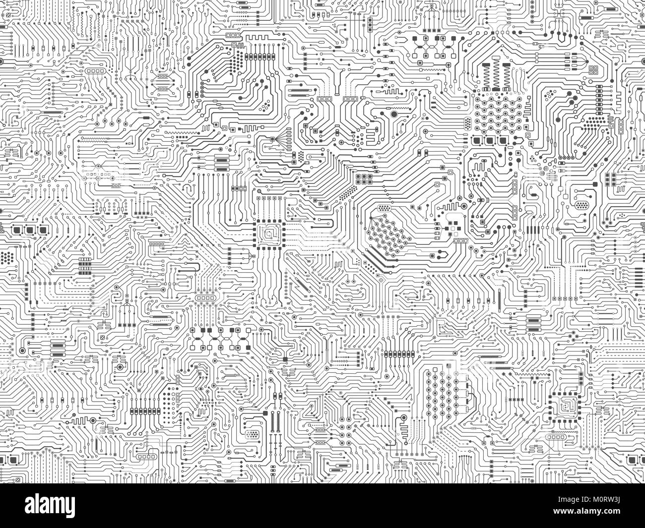 seamless circuit pattern or circuit board background vector Stock ...