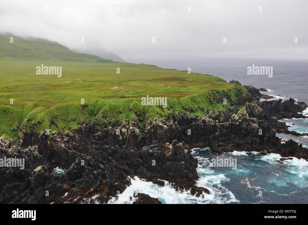 Carlisle Island, Alaska (17024890179) - Stock Image