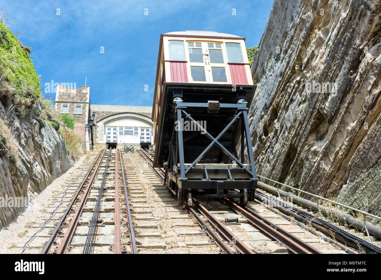 East Hill Lift Railway, Rock-A-Nore Road, Hastings, East Sussex, England, United Kingdom - Stock Image