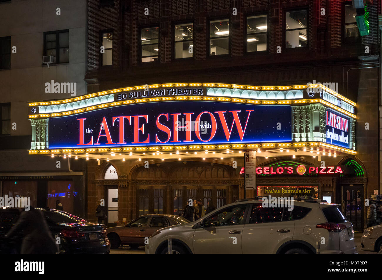 The Late Show at the Ed Sullivan Theater in Broadway Theatre District - Stock Image