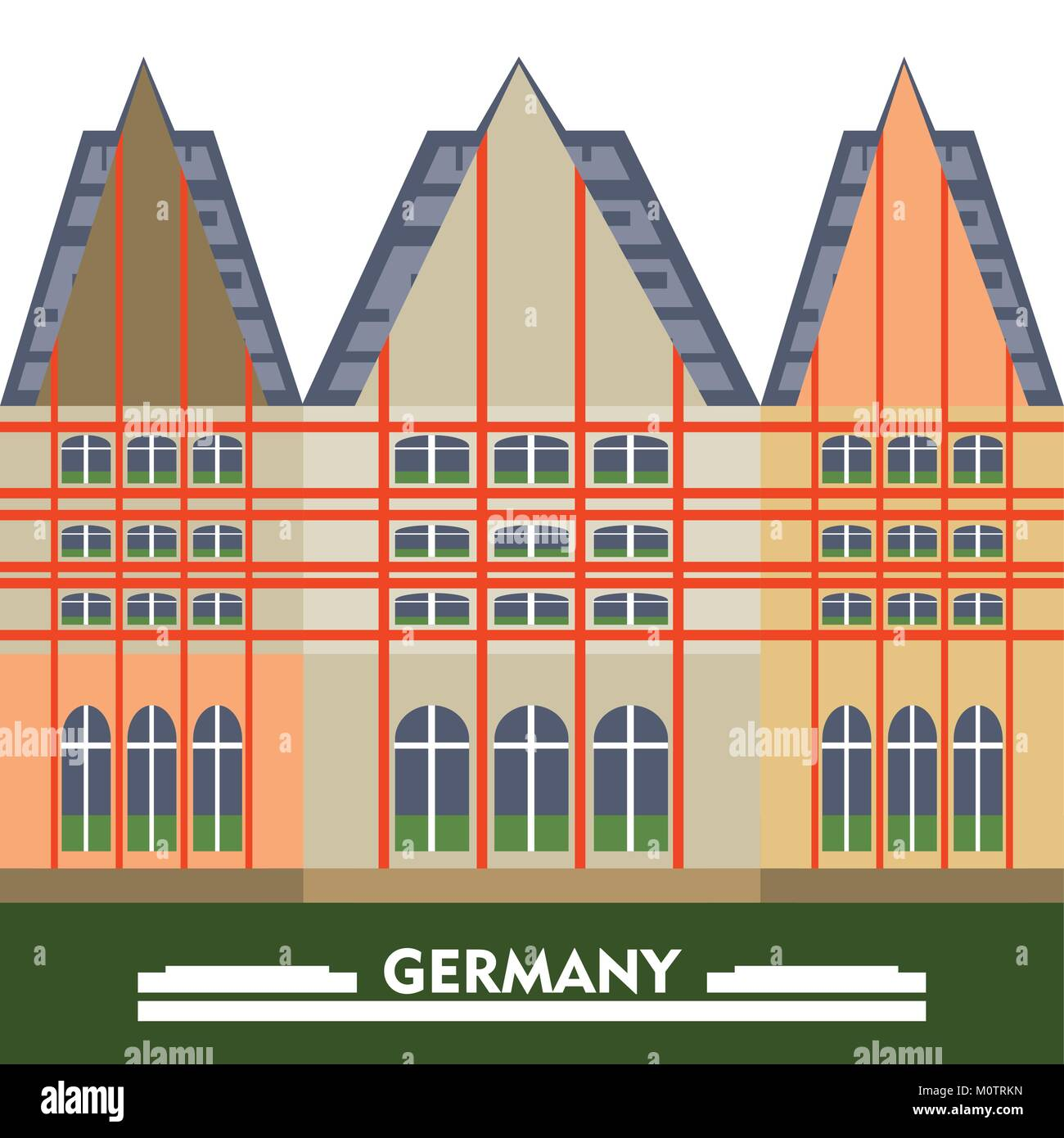 germany design concept - Stock Vector