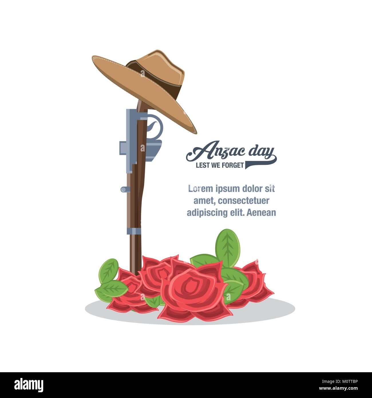 Anzac Day Design Stock Vector Image Art Alamy