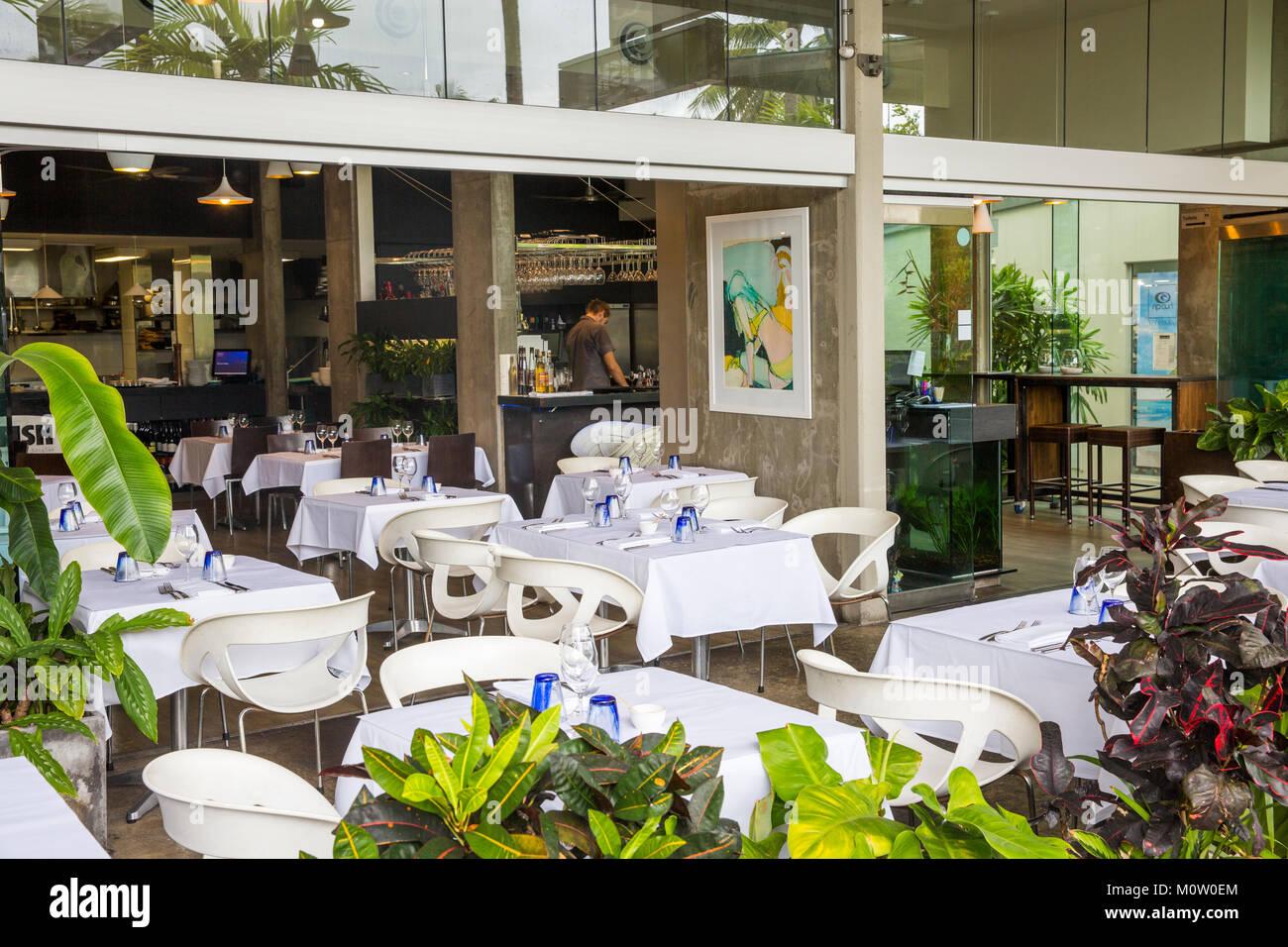 2 fish restaurant in Port Douglas, Far north queensland,Australia - Stock Image