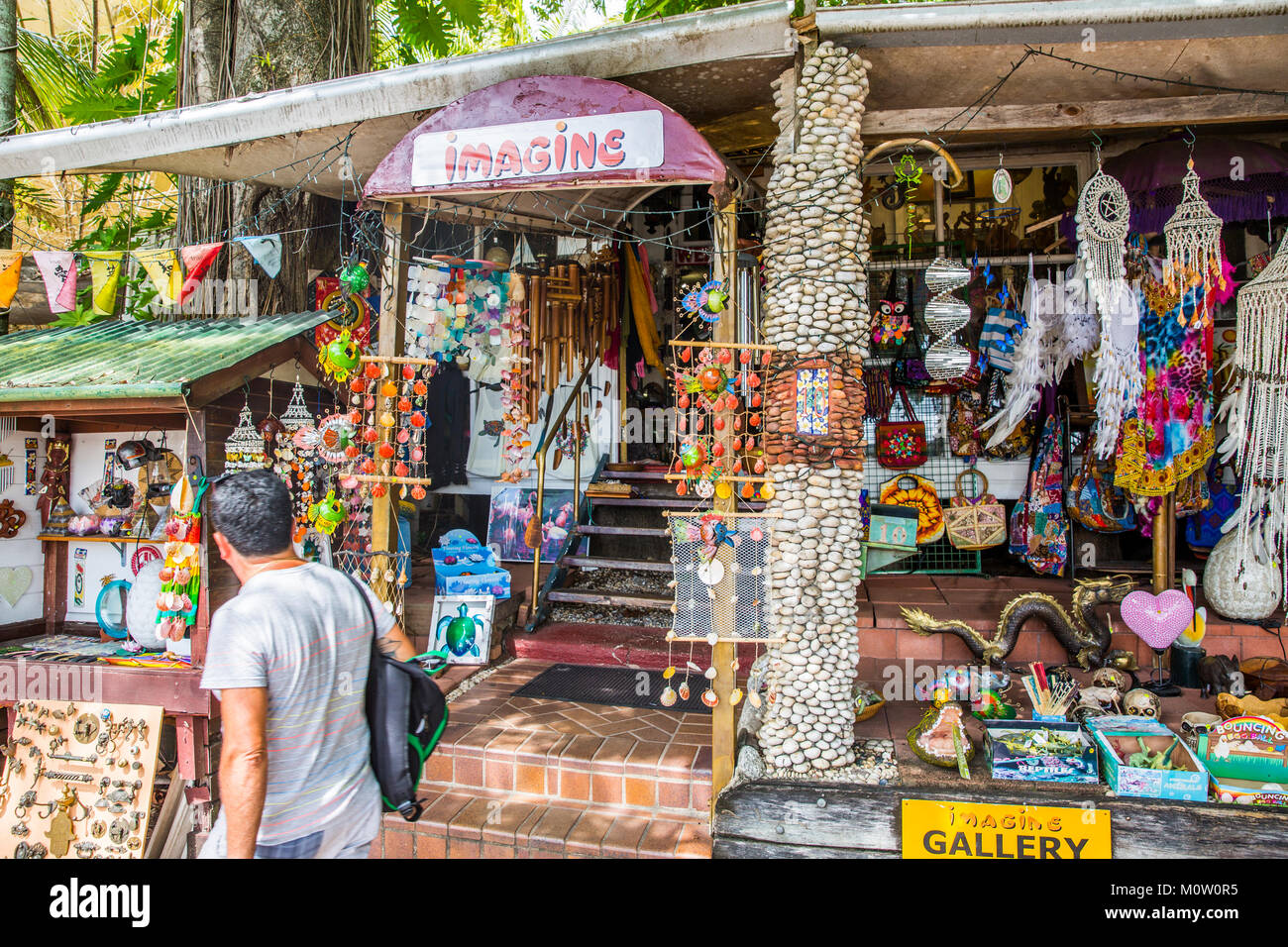 General store on macrossman street in Port Douglas selling a range of eclectic goods and bric a brac, Port Douglas,Queensland - Stock Image