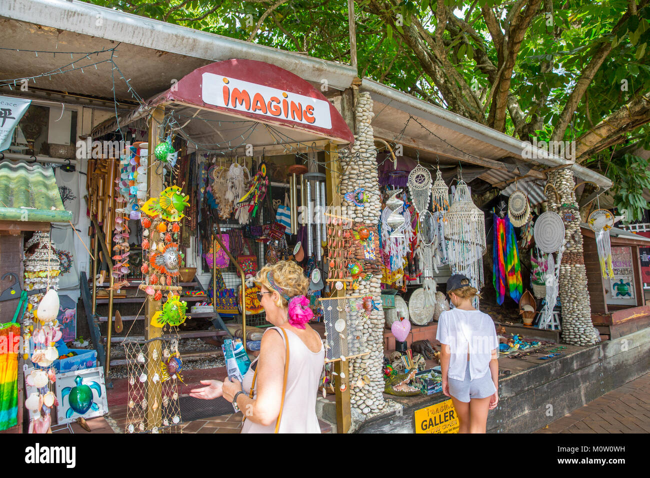 General store on macrossman street in Port Douglas selling a range of eclectic goods and bric a brac, Port Douglas,Queensland Stock Photo