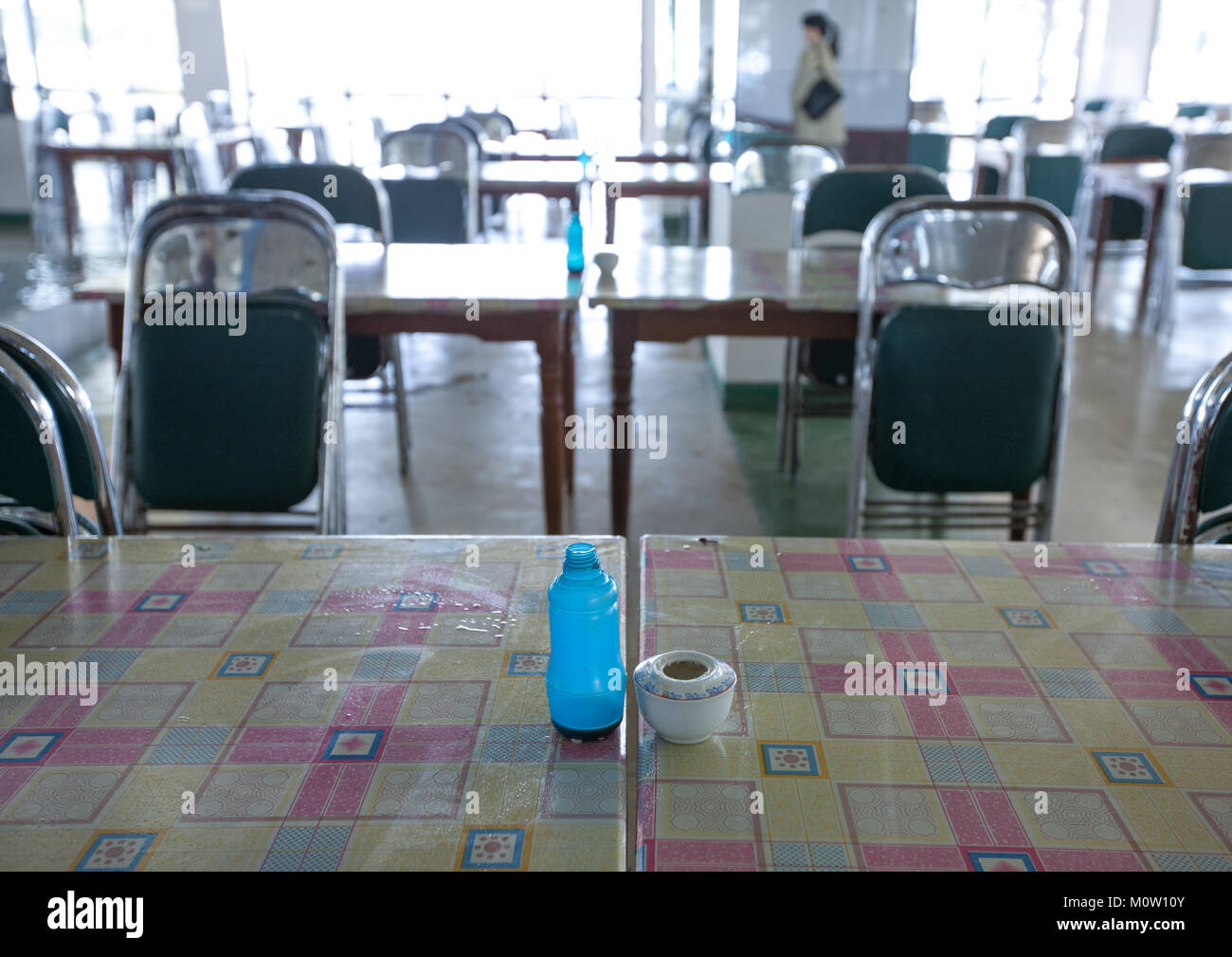 Empty canteen in Songdowon international children's camp, Kangwon Province, Wonsan, North Korea - Stock Image
