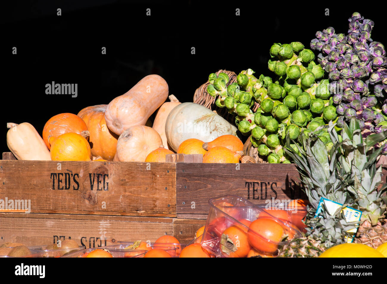 Vegetables in Boroughs 's Market London, England - Stock Image