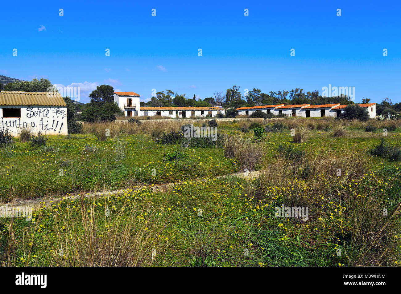 Dissused stables at Casa Blanca Alcossebre Spain - Stock Image