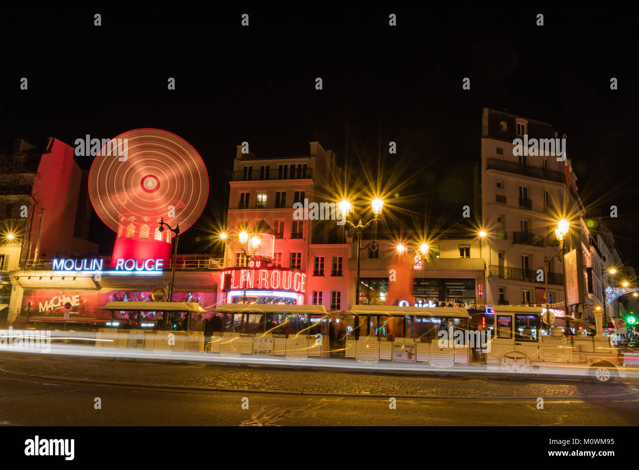 Moulin Rouge and Pigalle place in Paris Stock Photo