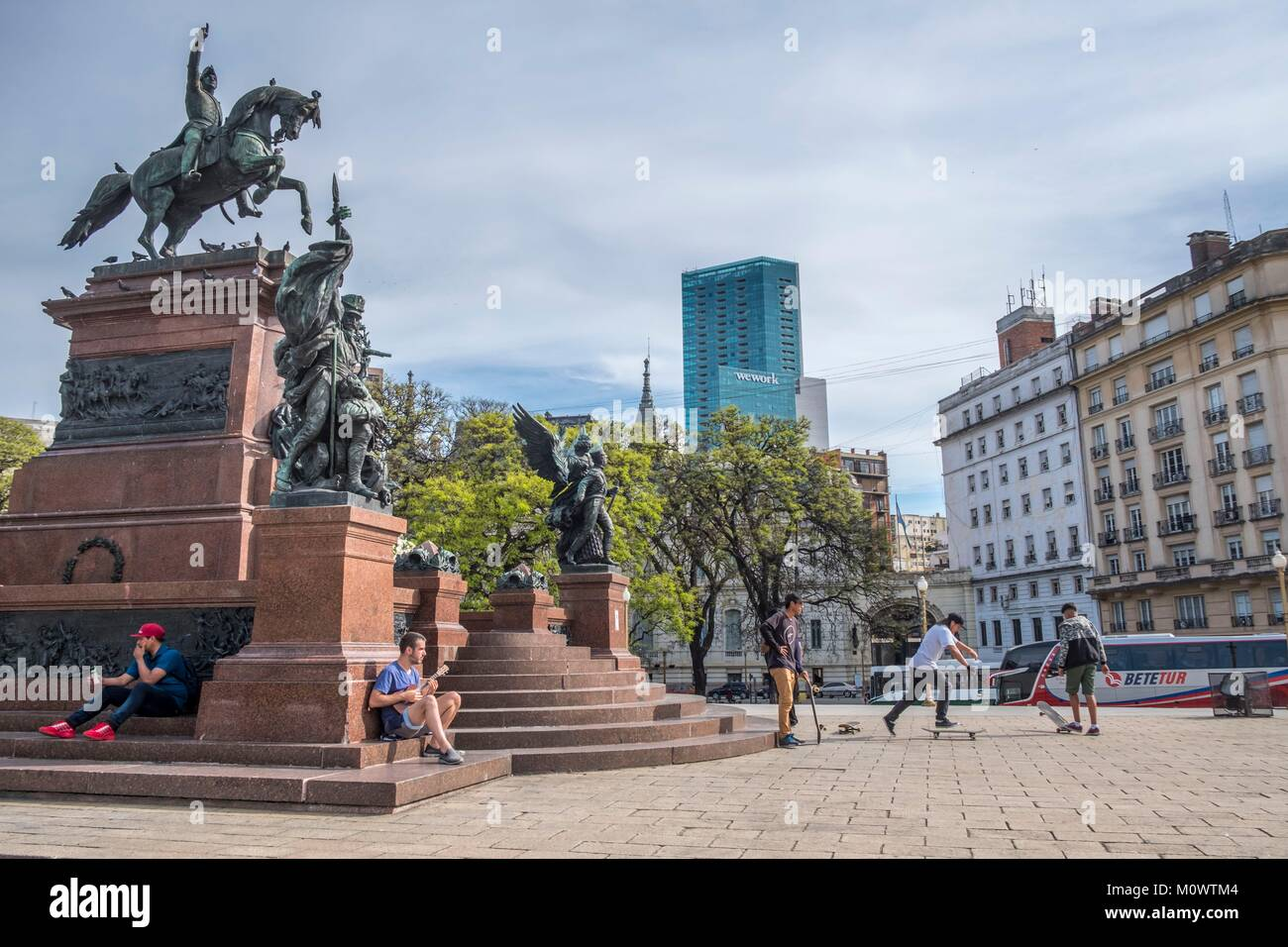Argentina,Buenos Aires province,Buenos Aires,plaza San Martin - Stock Image