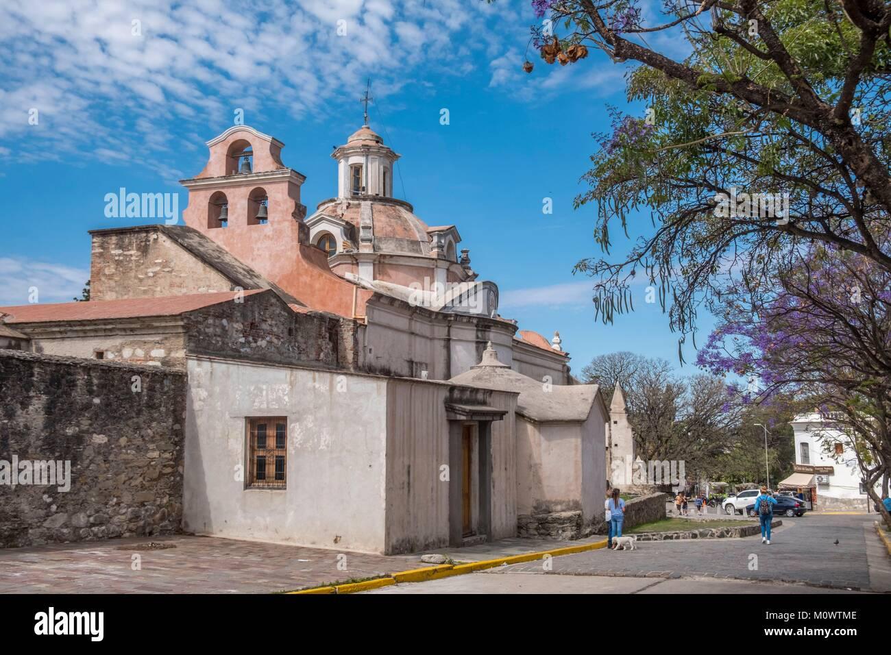 Argentina,Cordoba province,Alta Gracia,Nuestra Senora de la Merced Church,part of the Jesuit Estancia - Stock Image