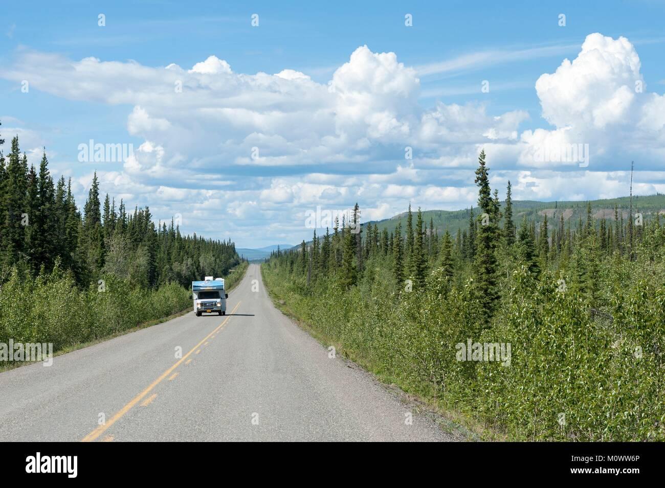 Canada,Yukon Territory,Klondike Highway - Stock Image