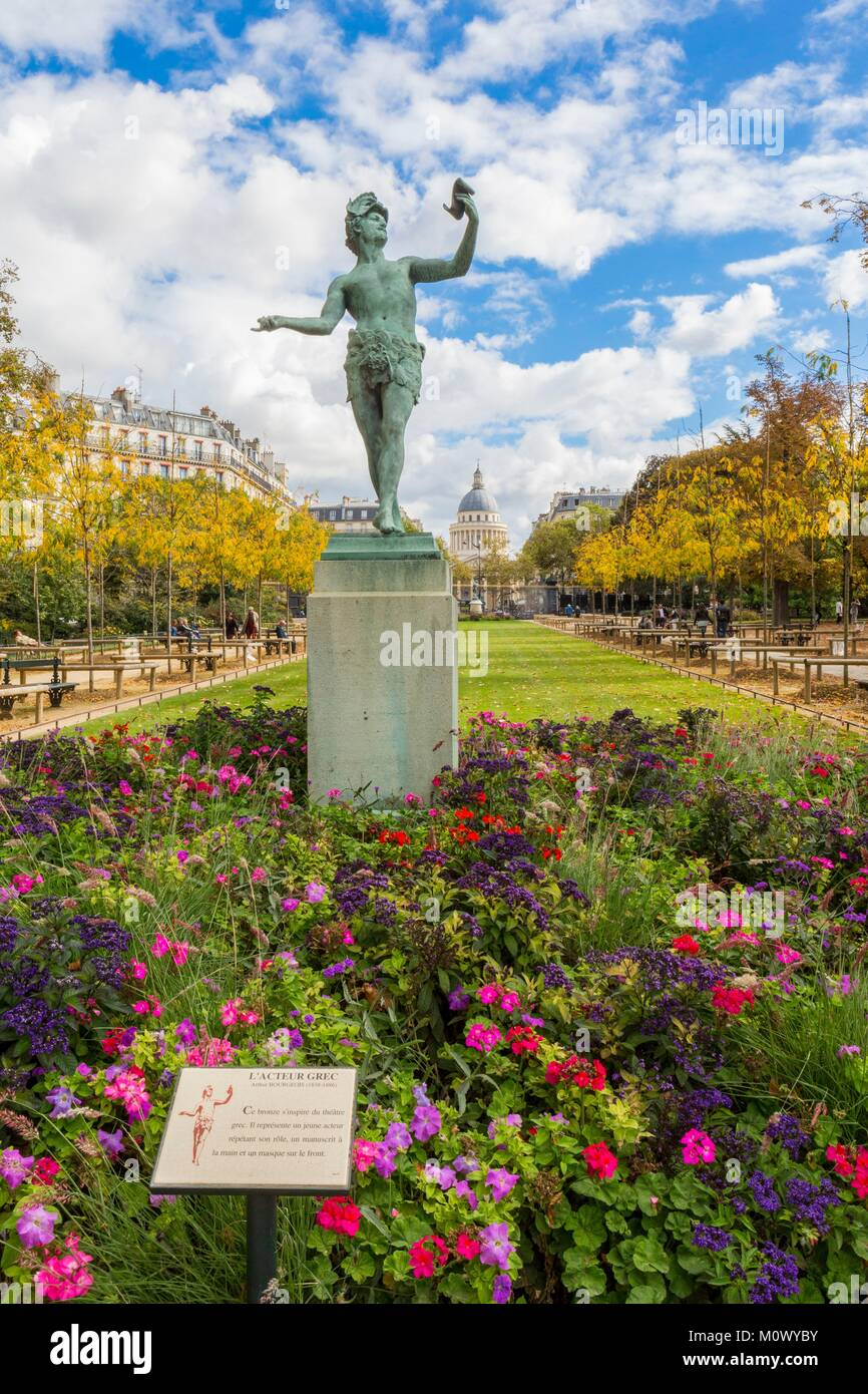 France,Paris,Luxembourg Garden - Stock Image