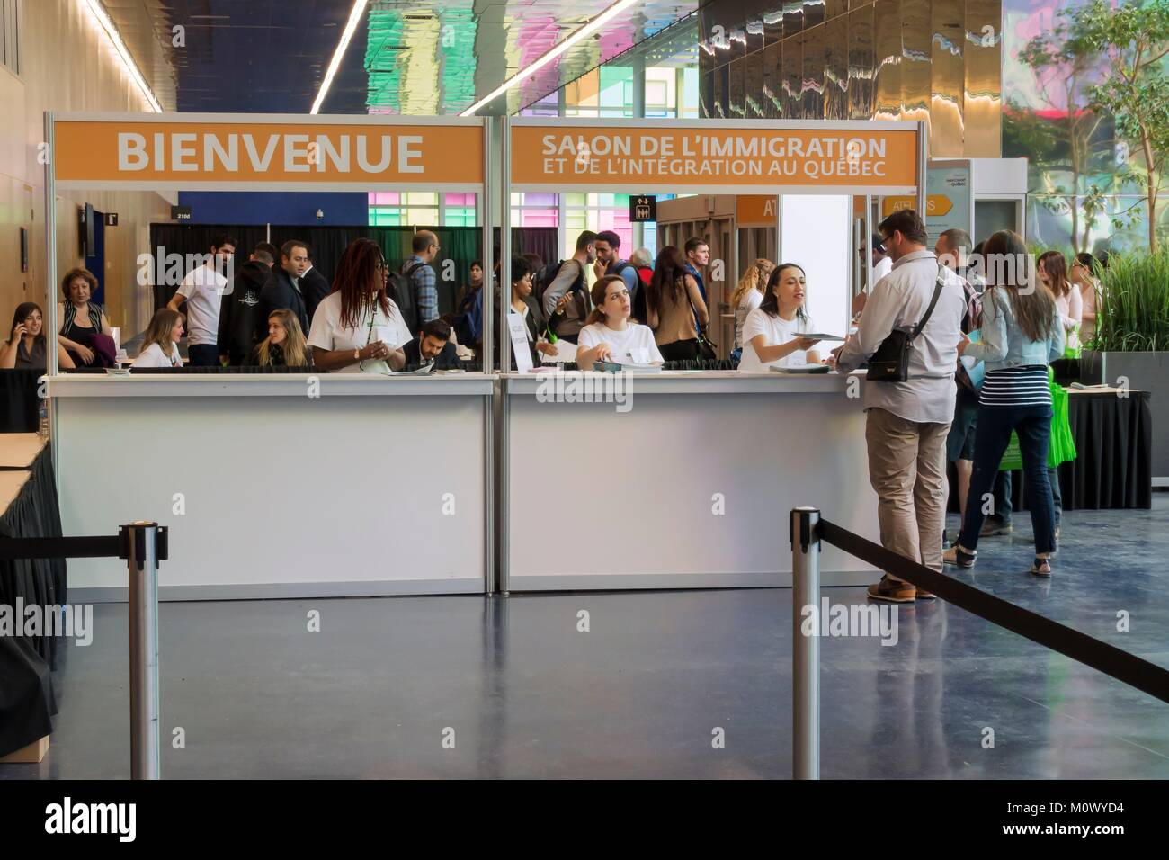 Montreal,Province of Quebec,Montreal,the Quebec Immigration and Integration Fair,the annual event dedicated to newcomers - Stock Image