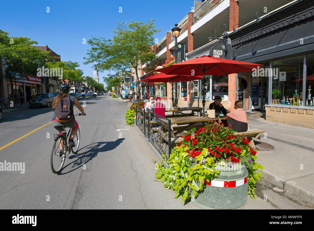 Canada,Quebec province,Montreal,the city of Verdun one of Montreal's western neighborhoods,Wellington Street,a - Stock Image
