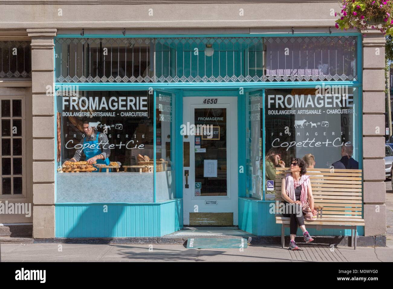 Canada,Quebec province,Montreal,The City of Verdun One of the West Montreal neighborhoods,Wellington Street,bustling - Stock Image