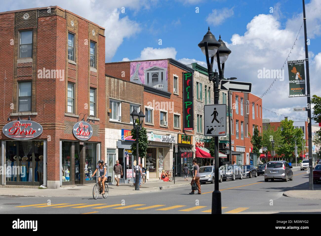 Canada,Quebec province,Montreal,the Hochelaga-Maisonneuve neighborhood,also known as HOMA or Hochelag,Ontario East - Stock Image