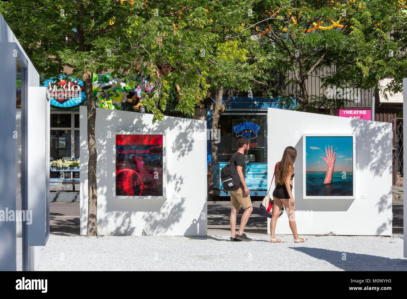 Canada,Quebec province,Montreal,The Village,St. Catherine Street,The Open Air Gallery White Gallery,Photographic - Stock Image