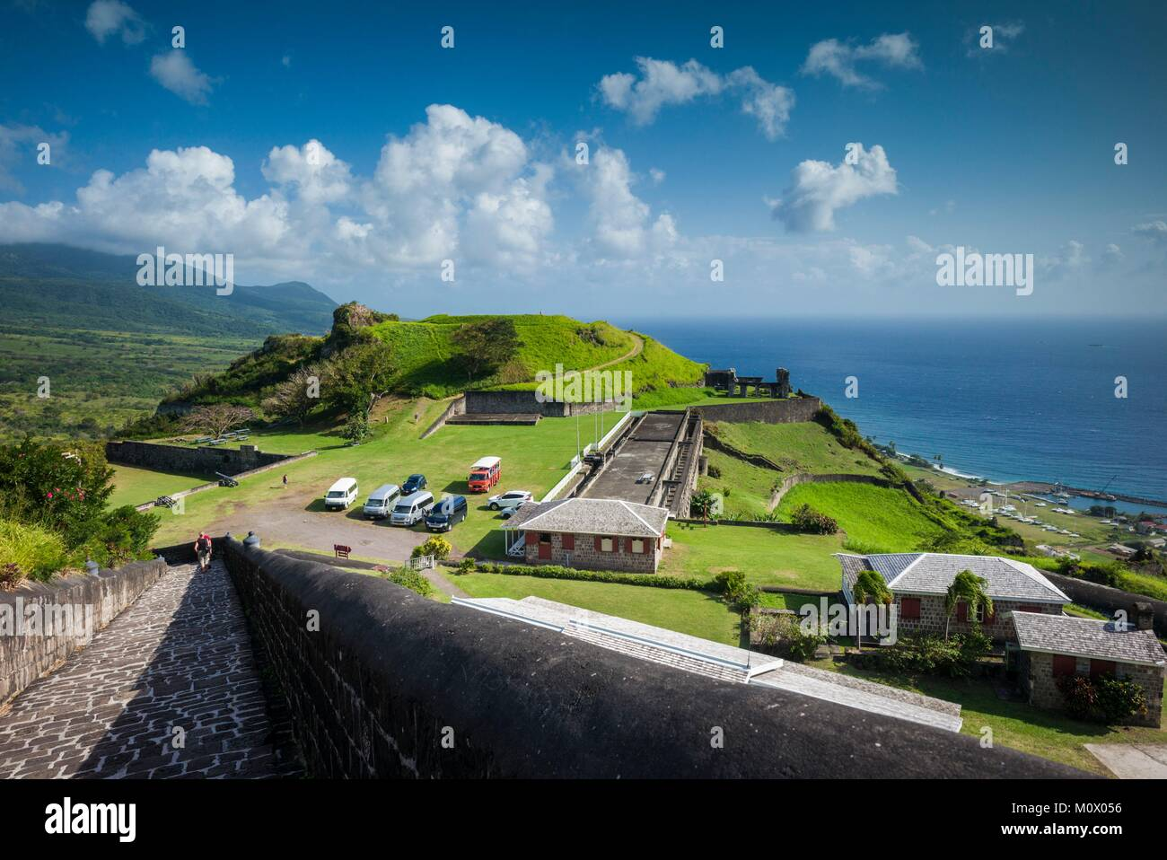 St. Kitts and Nevis,St. Kitts,Brimstone Hill,Brimstone Hill Fortress - Stock Image