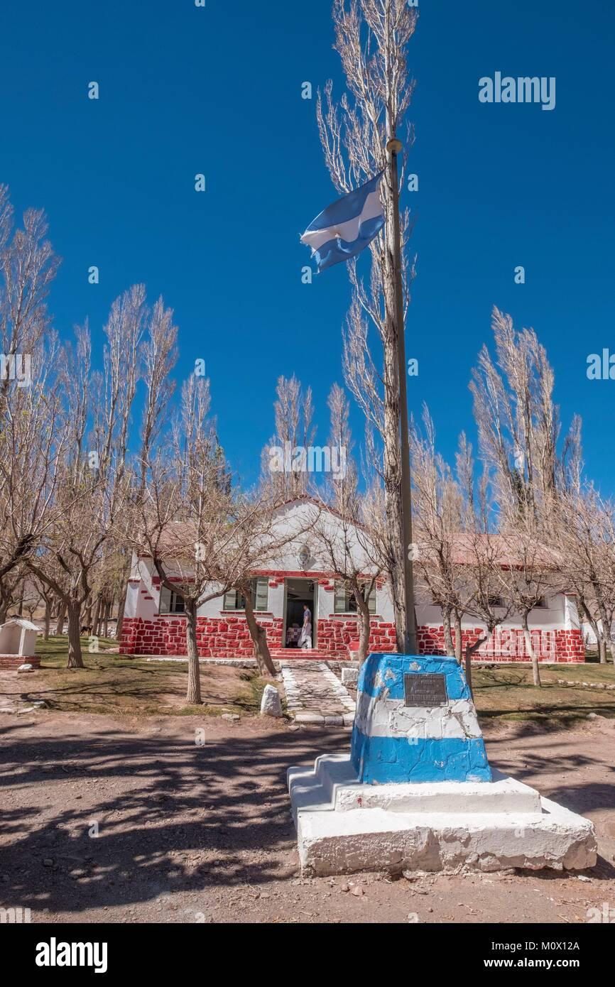 Argentina,San Juan Province,Barreal,Rio de Los Patos valley,Las Hornillas police station - Stock Image