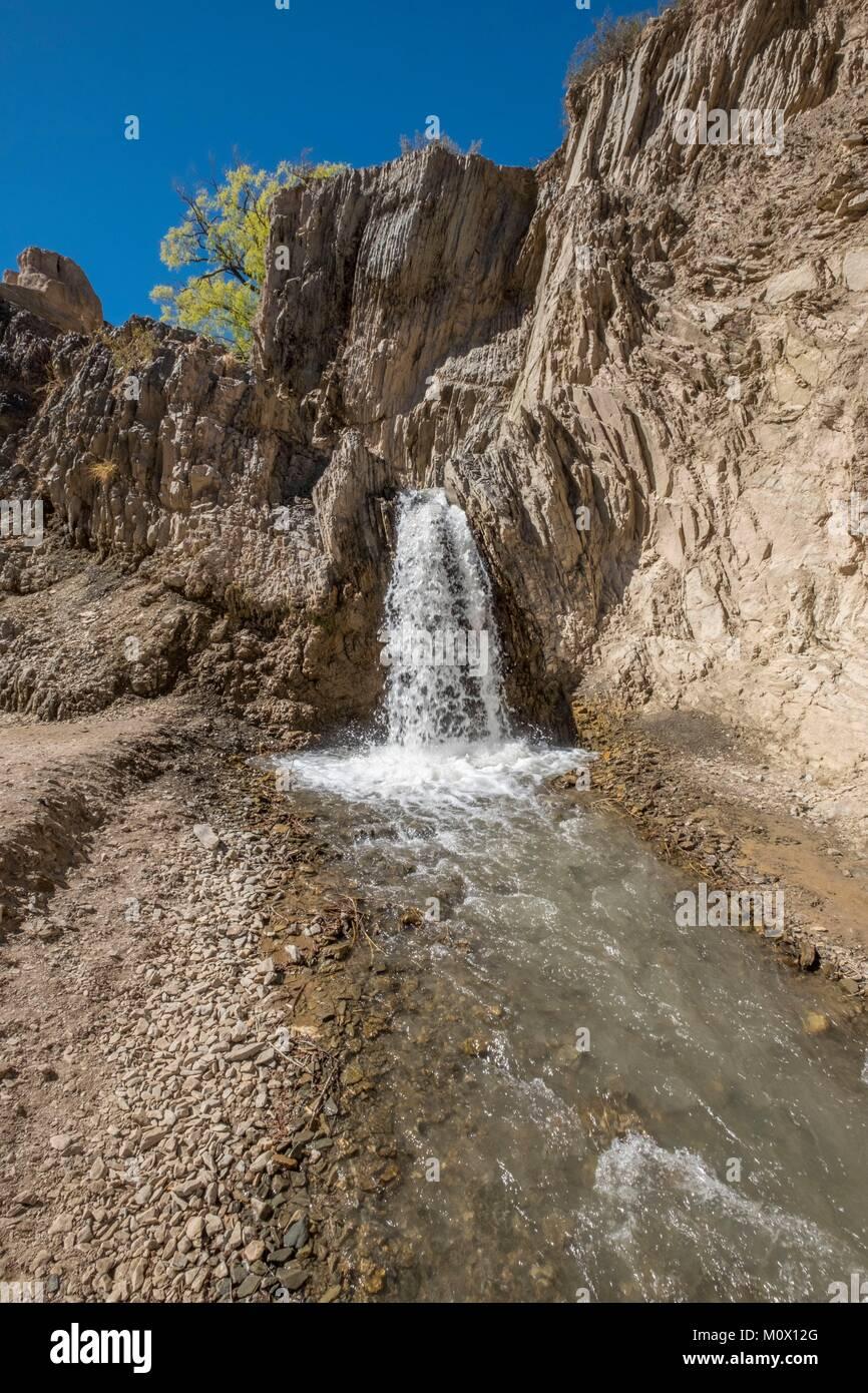 Argentina,San Juan Province,Barreal,El Leoncito national park,Sendero Paisajes de Agua - Stock Image