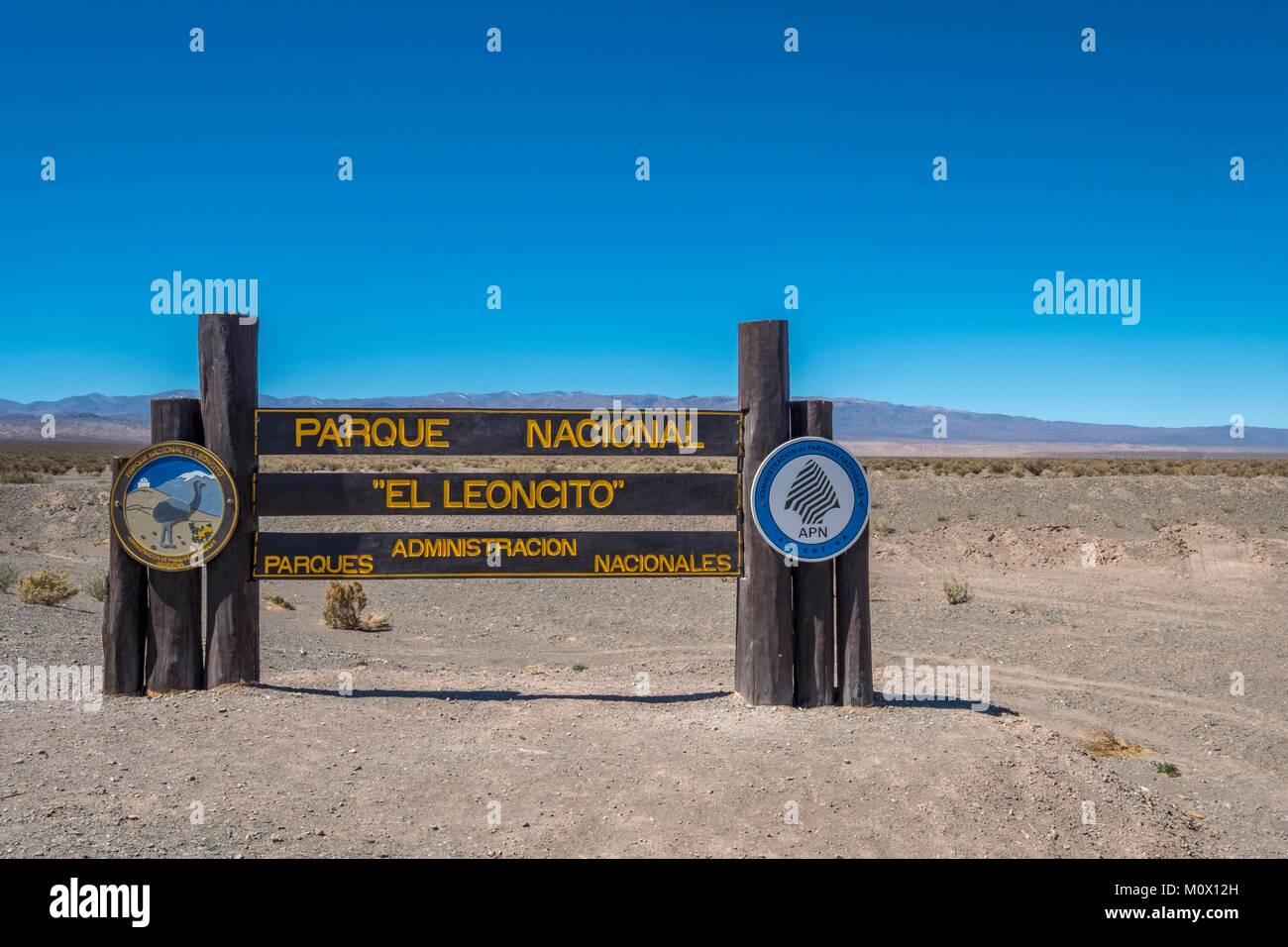 Argentina,San Juan Province,Barreal,El Leoncito national park - Stock Image