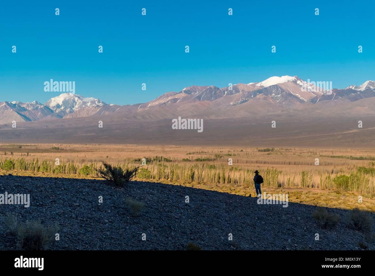 Argentina,San Juan Province,Calingasta Department,Cordillera at Barreal - Stock Image