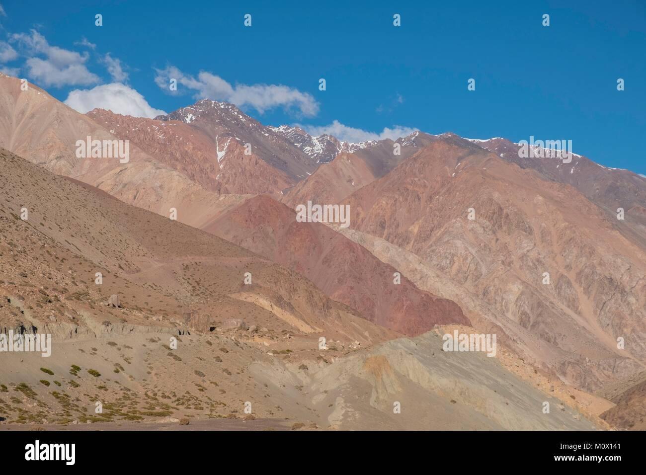 Argentina,San Juan Province,Barreal,Rio de Los Patos valley - Stock Image