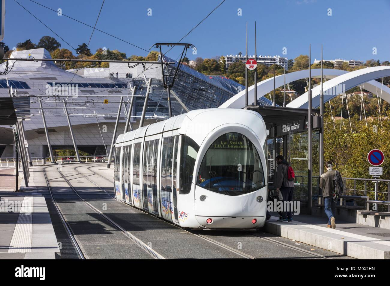 France,Rhone,Lyon,Gerland district,La Confluence district south of the Presqu'ile,first French sustainable quarter Stock Photo