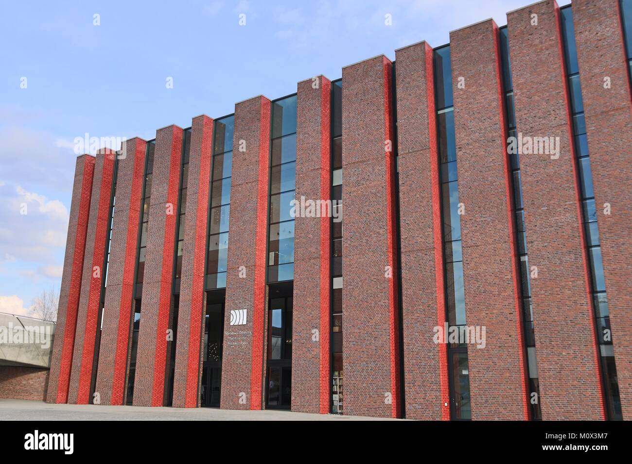 KATOWICE, POLAND - MARCH 5, 2017: Polish National Radio Symphony Orchestra (NOSPR) concert hall in Katowice. The Stock Photo