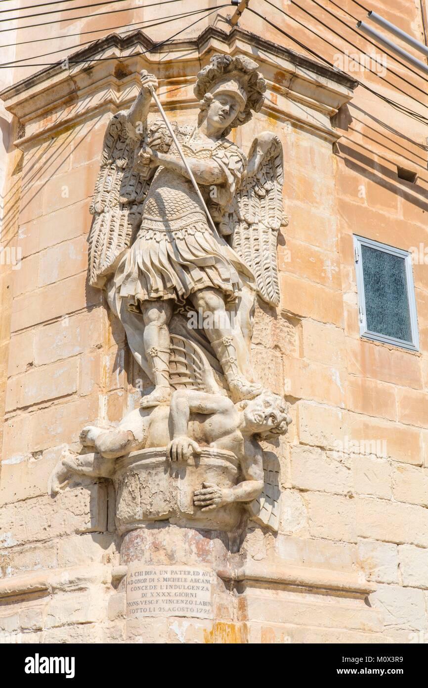 Malta,Valletta,listed as World Heritage by UNESCO,the Three Cities,Senglea - Stock Image