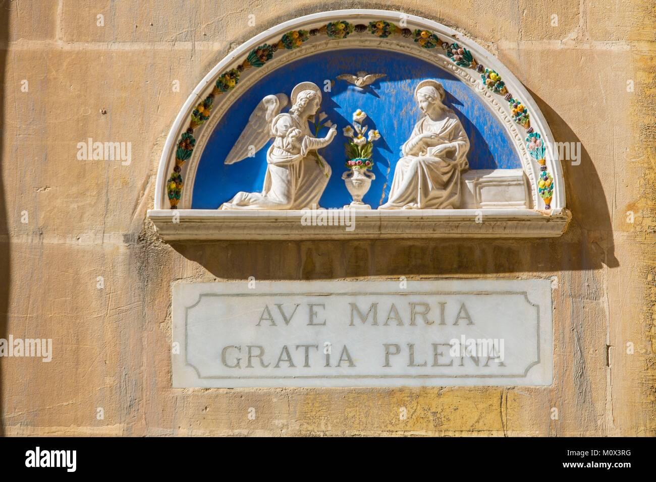 Malta,Valletta,listed as World Heritage by UNESCO,the Three Cities,Birgu - Stock Image
