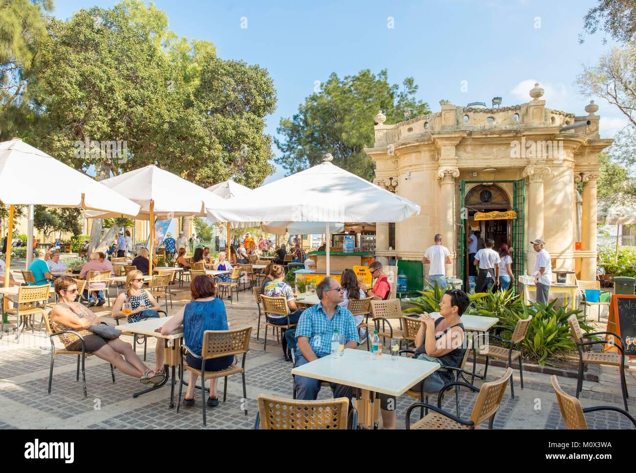 Malta,Valletta,city listed as World Heritage by UNESCO,Upper Barraca garden - Stock Image