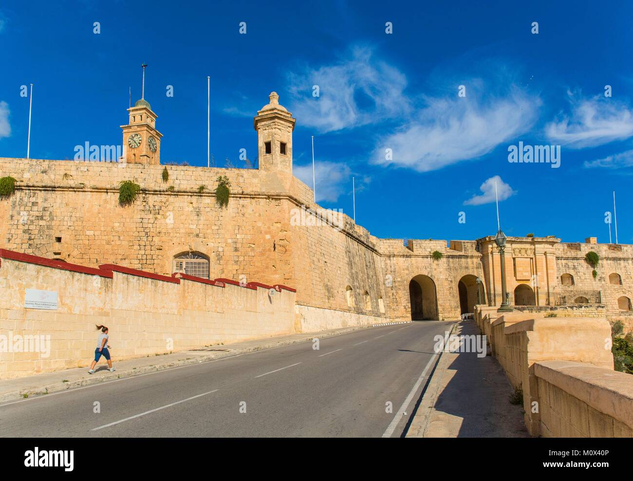 Malta,Valletta,listed as World Heritage by UNESCO,the Three Cities,Senglea Gate - Stock Image