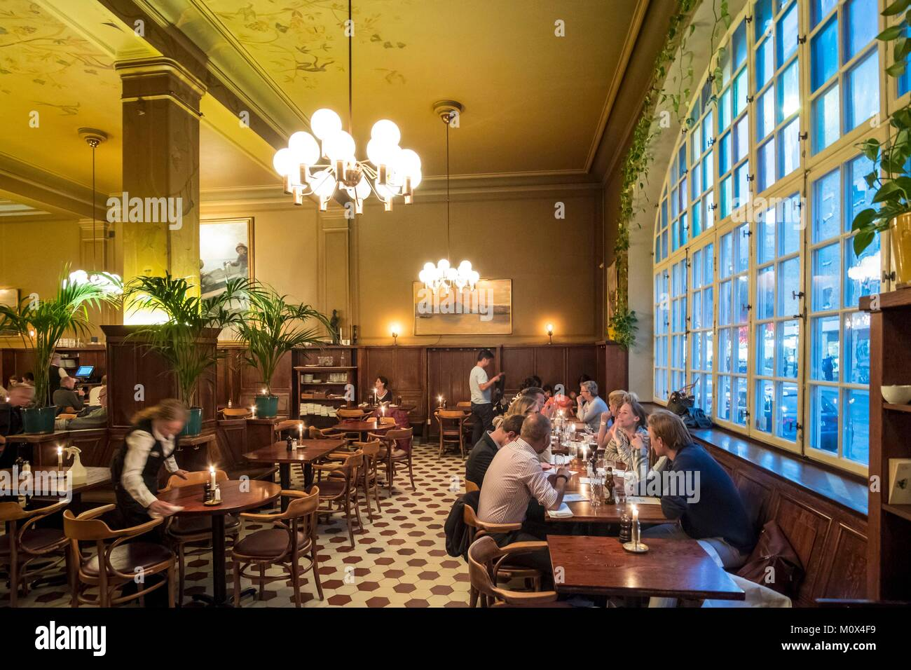 Sweden,Stockholm,island of Sodermalm,the Pelikan restaurant,centuries-old brewery Stock Photo