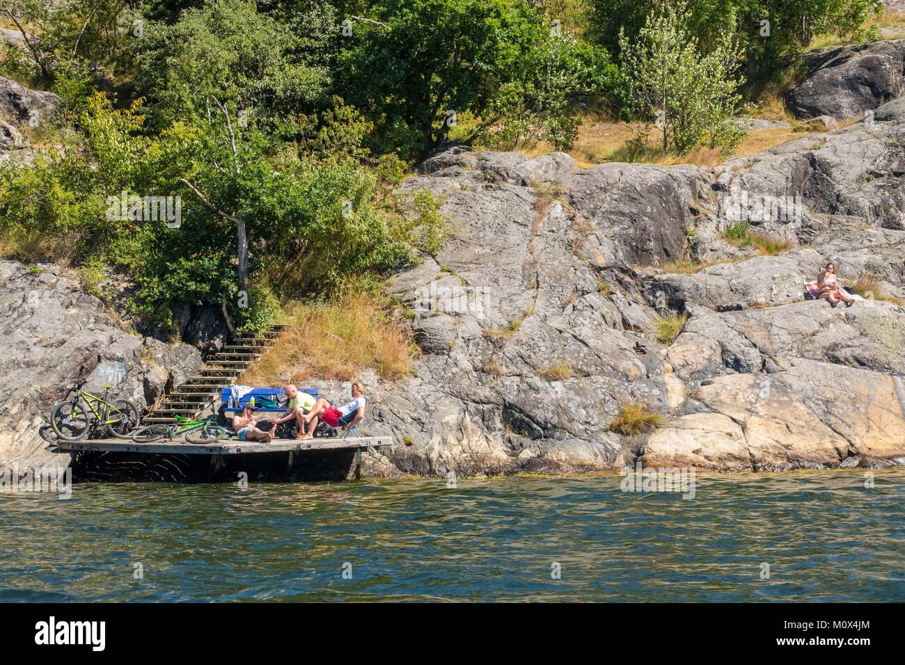Sweden,Stockholm,swimming area in the city centre Stock Photo