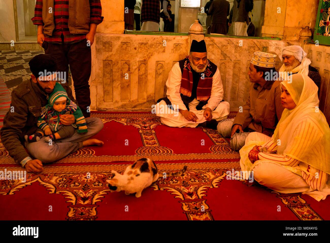 India,Rajasthan,Ajmer,Ajmer Sharif,Haji Syed Salman Chishty who is the founder and director of Chishty Foundation,married - Stock Image